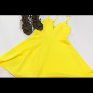 Vibrant yellow dress